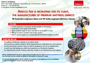 AfisA3_Production engineers and &  Textile engineers -  Iasi